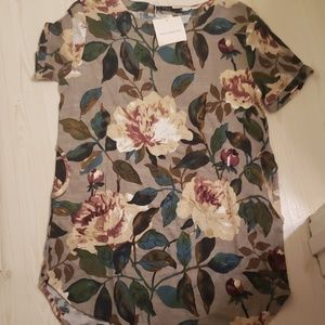 NWT Linen Zaful floral tunic